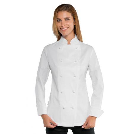 Veste de Cuisine Femme 057500 Blanche Isacco
